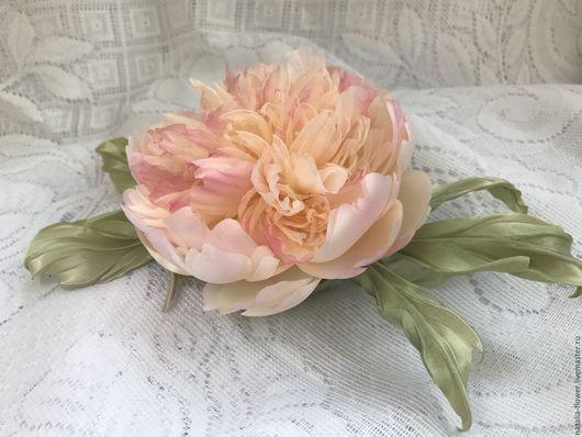 Цветы ручной работы. Ярмарка Мастеров - ручная работа. Купить Пион. Handmade. Цветы, шелковые цветы, цветы в украшении