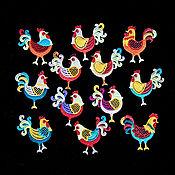 Подарки к праздникам handmade. Livemaster - original item Roosters are a motley collection. Handmade.