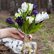 """Цветы и флористика ручной работы. Ярмарка Мастеров - ручная работа Интерьерный букет, букет невесты """"Тюльпаны"""" ручной лепки.. Handmade."""
