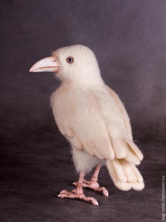 Игрушки животные, ручной работы. Ярмарка Мастеров - ручная работа. Купить Белая ворона. Handmade. Белый, Сухое валяние