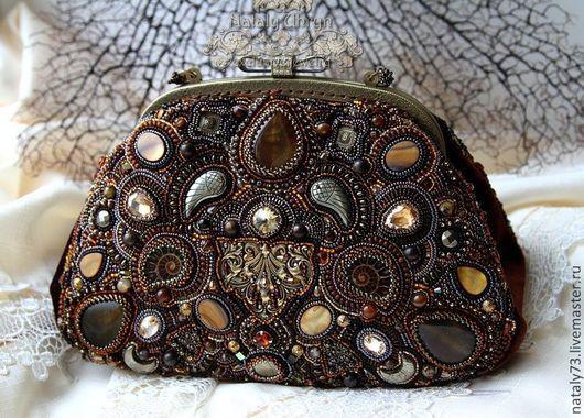 Женские сумки ручной работы. Ярмарка Мастеров - ручная работа. Купить сумочка ''Antique ''. Handmade. Коричневый, сумка женская