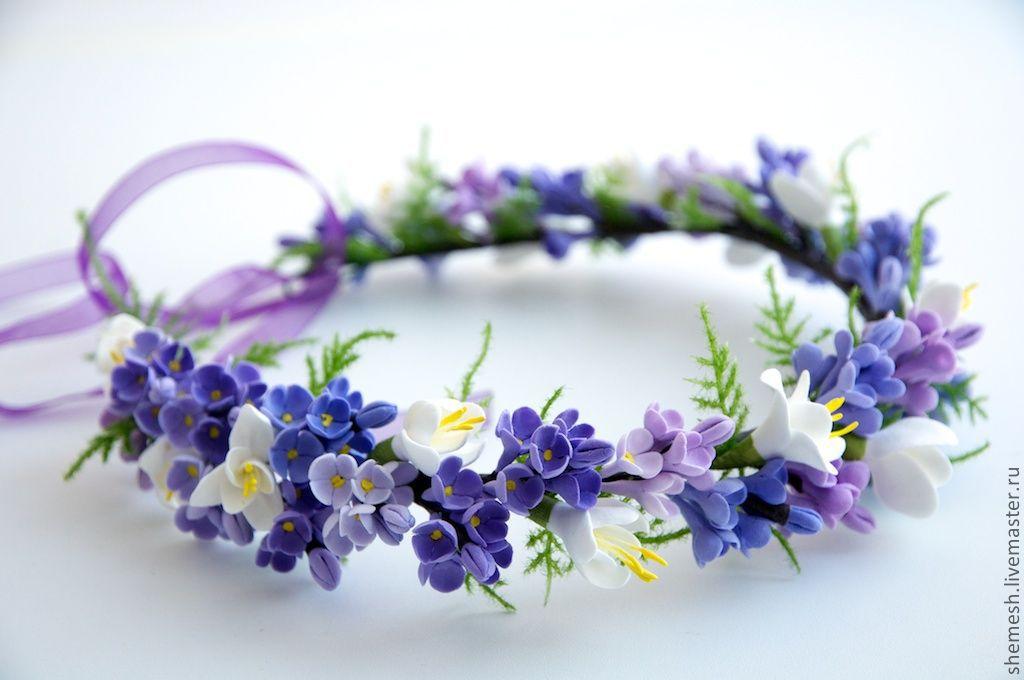 Цветы обручи ручной работы