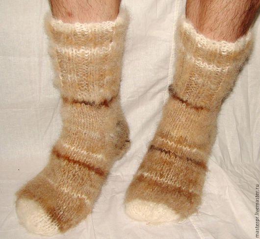 Носки «Ацтек» пуховые толстые арт№99м из собачьей шерсти . Носки связаны из 2-х толстых ссученных ниток (толщина). Очень толстые и очень теплые .  Ручное прядение. Ручное вязание. Живая нитка.