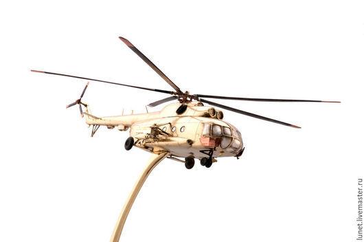 Подарки для мужчин, ручной работы. Ярмарка Мастеров - ручная работа. Купить Ми-8 — советский/российский вертолёт. Handmade. Золотой