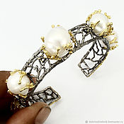 handmade. Livemaster - original item Five seas bracelet with pearls.. Handmade.