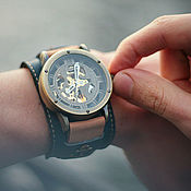 Украшения handmade. Livemaster - original item Anchor mechanical wrist watch wide bracelet. Handmade.