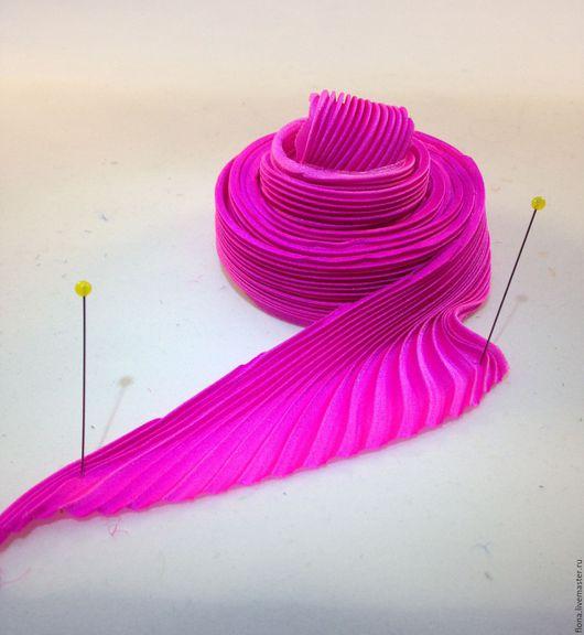 Для украшений ручной работы. Ярмарка Мастеров - ручная работа. Купить Лента Шибори N74. Handmade. Розовый, натуральный шелк