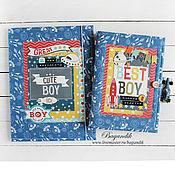 """Канцелярские товары ручной работы. Ярмарка Мастеров - ручная работа Комплект для мальчика """"Просто космос"""": блокнот  и папка для документов. Handmade."""