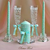 Свадебный салон ручной работы. Ярмарка Мастеров - ручная работа Свадебный набор Мятный Бриз. Handmade.