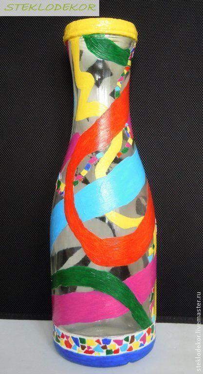 """Вазы ручной работы. Ярмарка Мастеров - ручная работа. Купить ваза """"Радуга"""". Handmade. Ваза, ваза для сухоцветов, радуга"""