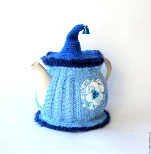Кухня ручной работы. Ярмарка Мастеров - ручная работа. Купить Грелка на чайник голубая со съемной крышкой. Handmade. Комбинированный