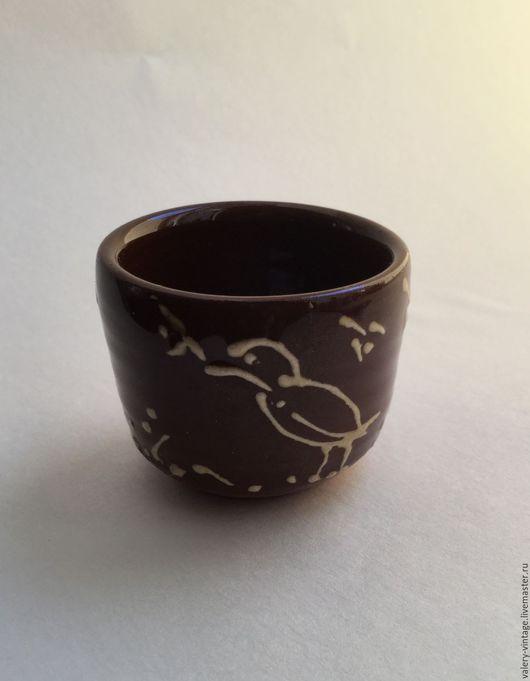 Винтажная посуда. Ярмарка Мастеров - ручная работа. Купить Винтажная глиняная рюмка, ручная роспись.. Handmade. Комбинированный, ручная работа