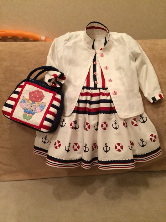 """Одежда для девочек, ручной работы. Ярмарка Мастеров - ручная работа. Купить Комплект """" На море """". Handmade."""