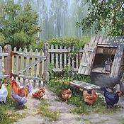 """Картины и панно ручной работы. Ярмарка Мастеров - ручная работа Авторская картина маслом """"Летний денёк"""". Handmade."""
