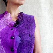 """Одежда ручной работы. Ярмарка Мастеров - ручная работа Жилет  """"Viola"""" валяный. Handmade."""