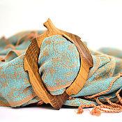 Аксессуары ручной работы. Ярмарка Мастеров - ручная работа Пряжка листик мореный дуб самый большой с заболонью. Handmade.