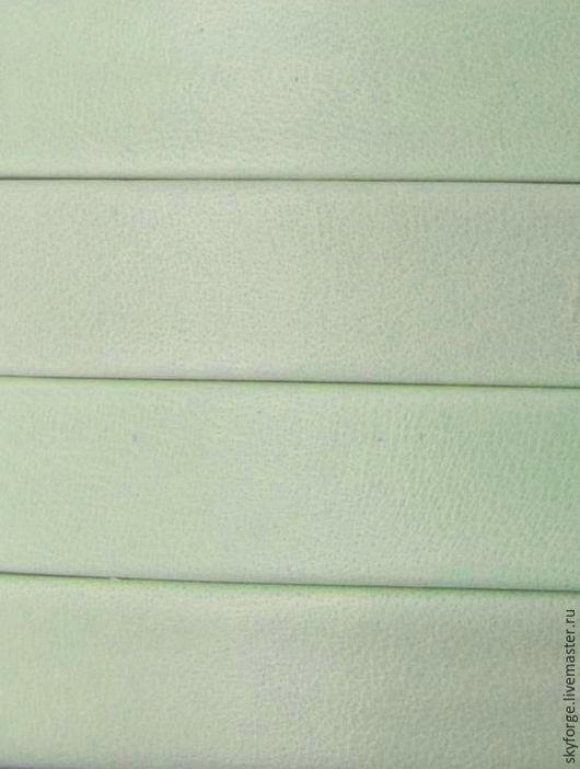 Для украшений ручной работы. Ярмарка Мастеров - ручная работа. Купить Кожаный шнур плоский 10x2 мм Denver, светло-серый. Handmade.