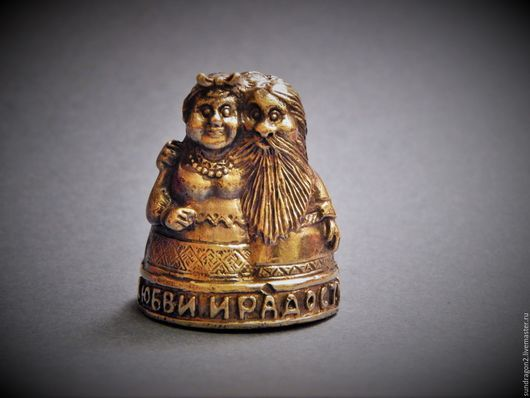 """Колокольчики ручной работы. Ярмарка Мастеров - ручная работа. Купить колокольчик """"Бабушка рядышком с дедушкой..."""" бронза. Handmade. Колокольчик"""
