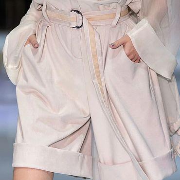 Одежда ручной работы. Ярмарка Мастеров - ручная работа Шорты женские из замши с карманами. Handmade.