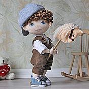 Куклы и игрушки handmade. Livemaster - original item Interior doll boy with blue eyes. Handmade.