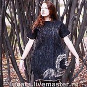 """Одежда ручной работы. Ярмарка Мастеров - ручная работа Платье из шерсти и шелка """"Не-замкнутый круг.... Handmade."""
