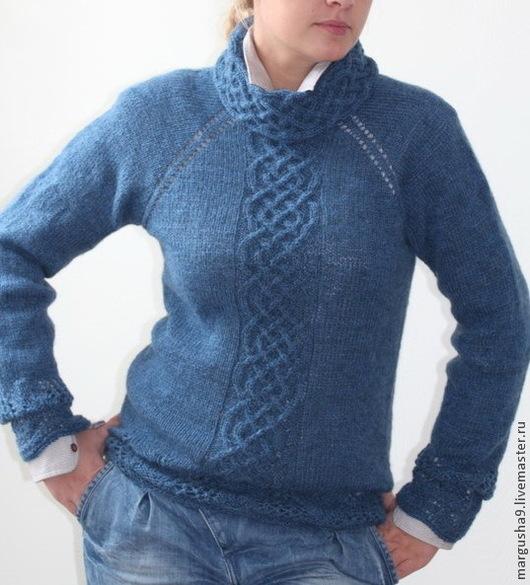 Кофты и свитера ручной работы. Ярмарка Мастеров - ручная работа. Купить Кельтские мотивы. Handmade. Голубой, свитер женский