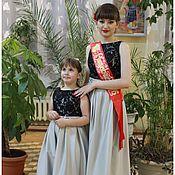 Одежда ручной работы. Ярмарка Мастеров - ручная работа Вечернее нарядное платье для девочки на выпускной в детский сад. Handmade.