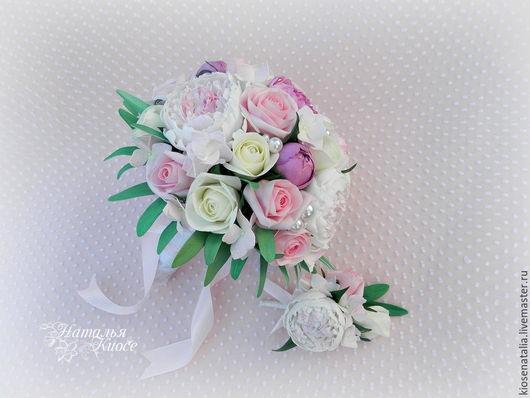 """Свадебные цветы ручной работы. Ярмарка Мастеров - ручная работа. Купить Букет невесты из фоамирана """"Очарование"""". Handmade. Комбинированный"""