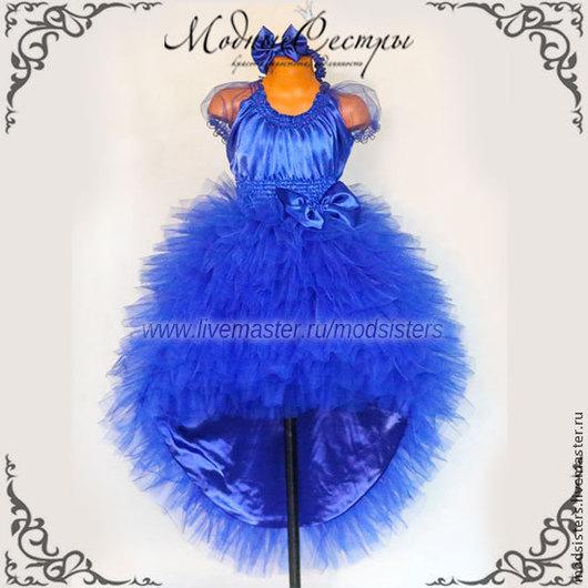 """Одежда для девочек, ручной работы. Ярмарка Мастеров - ручная работа. Купить Платье вечернее """"Синее"""" Арт.129. Handmade."""