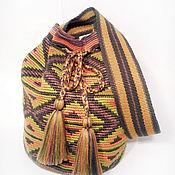 Классическая сумка ручной работы. Ярмарка Мастеров - ручная работа N2 Сумка по мотивам колумбийской сумки Mochila (Мочила). Handmade.