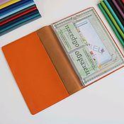 Канцелярские товары handmade. Livemaster - original item A4 document organizer orange. Handmade.