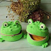 handmade. Livemaster - original item Coin holders: Wallet frog-Croaker. Handmade.