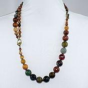 Украшения handmade. Livemaster - original item Asymmetric necklace natural stone agate cut. Handmade.
