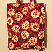 Сумки и аксессуары ручной работы. Ярмарка Мастеров - ручная работа Текстильная сумка Ginseng Flower. Handmade.