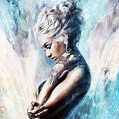 Картины и панно ручной работы. Ярмарка Мастеров - ручная работа Женский портрет по фото. Handmade.