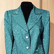 """Одежда ручной работы. Ярмарка Мастеров - ручная работа костюм из жаккарда """"Водная синь"""". Handmade."""