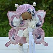 Куклы и игрушки ручной работы. Ярмарка Мастеров - ручная работа Интерьерная текстильная кукла БАБОЧКА. Handmade.