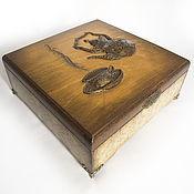 Для дома и интерьера ручной работы. Ярмарка Мастеров - ручная работа Коробка под чай. Handmade.