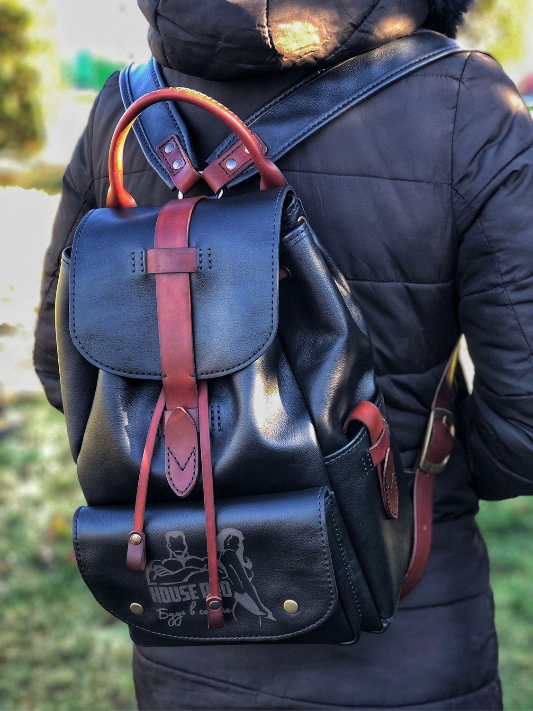 Стильный кожаный рюкзак, Рюкзаки, Астрахань,  Фото №1