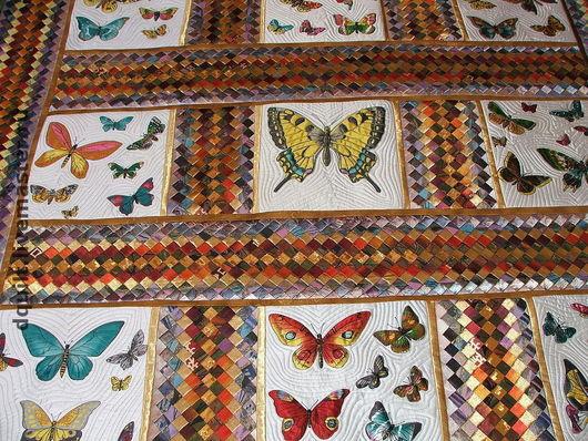 Текстиль, ковры ручной работы. Ярмарка Мастеров - ручная работа. Купить Покрывало  Волшебный мир бабочек. Handmade. Покрывало, бабочки