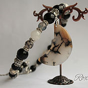 Украшения handmade. Livemaster - original item Moonlight Sonata - necklace choker with large pendant.. Handmade.