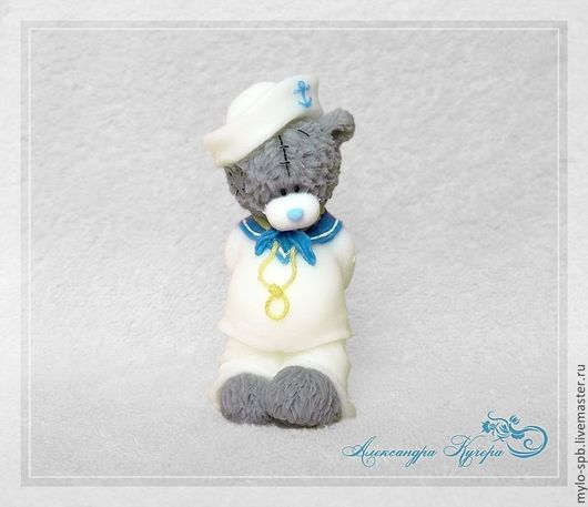 """Мыло ручной работы. Ярмарка Мастеров - ручная работа. Купить """"Мишка морячок"""" мыло ручной работы. Handmade. Синий"""