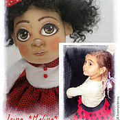 Куклы и игрушки ручной работы. Ярмарка Мастеров - ручная работа Софико-Маус Куколка с портретным сходстом. Handmade.