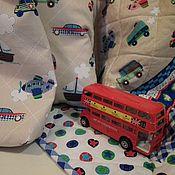 """Для дома и интерьера ручной работы. Ярмарка Мастеров - ручная работа """"Маленький путешественник"""" Одеяло. Покрывало. Комплект. Handmade."""