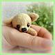 Мишки Тедди ручной работы. Ярмарка Мастеров - ручная работа. Купить Тойчик (5см). Handmade. Собака, щенок, мех для миниатюры