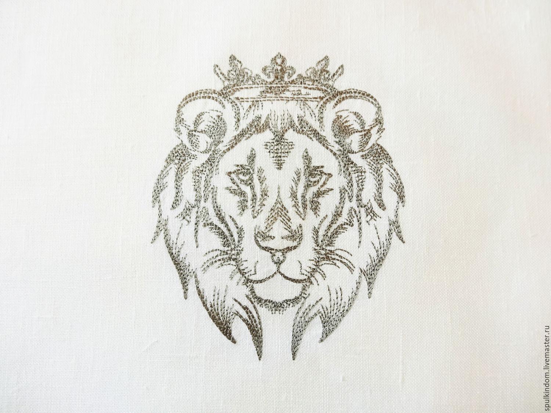 Картинки с вышивкой льва