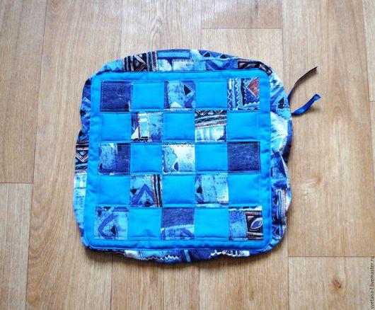 Кухня ручной работы. Ярмарка Мастеров - ручная работа. Купить Чехол на табурет Вечер синий. Handmade. Синий, кухня