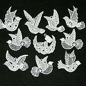 Подарки к праздникам handmade. Livemaster - original item Birds of happiness on a Christmas tree set. Handmade.