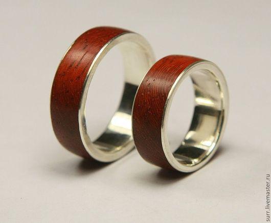 Свадебные украшения ручной работы. Ярмарка Мастеров - ручная работа. Купить Обручальные кольца с падуком. Handmade. Кольцо, серебро