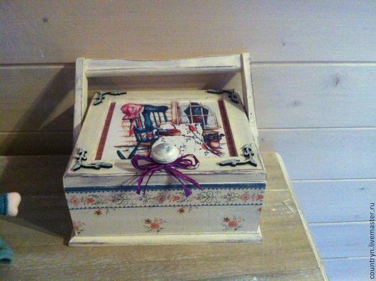 Шкатулки ручной работы. Ярмарка Мастеров - ручная работа. Купить Шкатулка для рукоделия. Handmade. Шкатулка, подарок на 8 марта